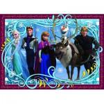 Puzzle 100 pièces : La Reine des Neiges (Frozen) : Photo de famille