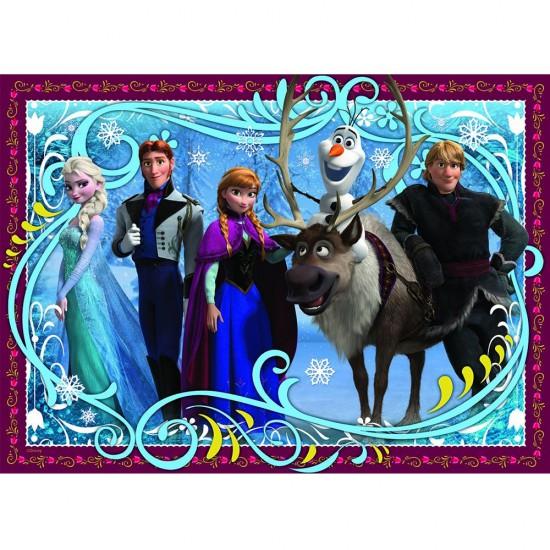 Puzzle 100 pièces : La Reine des Neiges (Frozen) : Photo de famille - Nathan-Ravensburger-86723