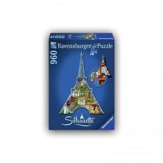 Puzzle 960 : Silhouette : Tour Eiffel