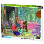 Puzzle Cadre 35 pièces : Pierre Lapin : Joyeux anniversaire Lily