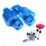 Jumelles transparentes Super 40 bleues