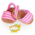 Coffret chaussures + bijou pour poupées Nenuco 42 cm : Sandalettes