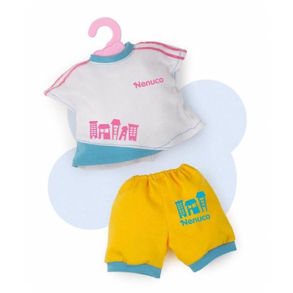 Vêtement pour Bébé Nenuco 35 cm : Ensemble Short et Tshirt - Nenuco-700011326-T17507