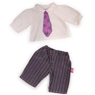 v tement pour b b nenuco 42 cm pantalon ray et chemise blanche nenuco 700008260 2. Black Bedroom Furniture Sets. Home Design Ideas