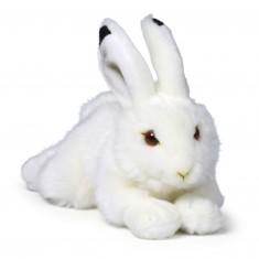 Peluche : WWF Lapin des neiges couché