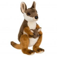 Peluche : WWF Wallaby avec bébé 19 cm