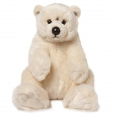 Peluche : WWF Ours polaire assis 32 cm