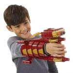 Armure mécanique d'Iron Man avec lance-fléchettes Nerf