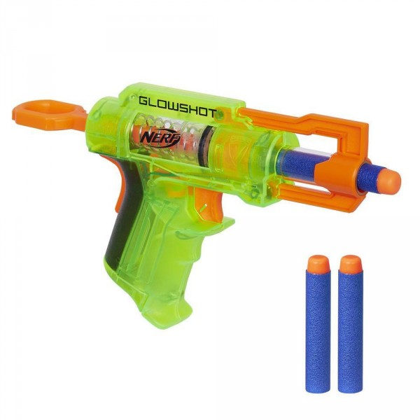 Pistolet Nerf N-Strike Elite Glowshot : Vert - Hasbro-B4615-Vert