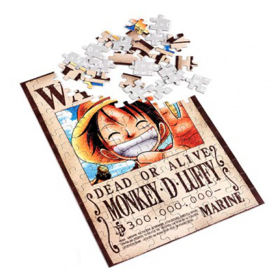 Puzzle 100 pièces One Piece : Monkey D Luffy Dead or Alife - Obyz-SMIJDP038-SMIJDP035