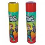 Bombes Magic Spray : Jaune et rouge fluo
