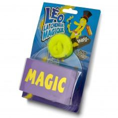 Léo la chenille magique avec boîte à apparition et DVD : Jaune