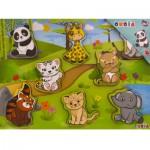 Puzzle 8 pièces en bois : Les animaux de la jungle