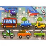 Puzzle 8 pièces en bois : Les véhicules