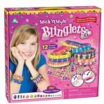 Bracelets à décorer Mosaïque au numéro Stick'n Style : 12 bracelets modes