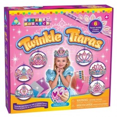 Couronnes à décorer Sticky Mosaïque au numéro : Tiares de princesse