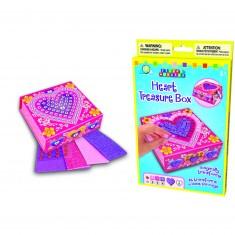 Mosaïque au numéro Sticky : Boîte à bijoux coeur