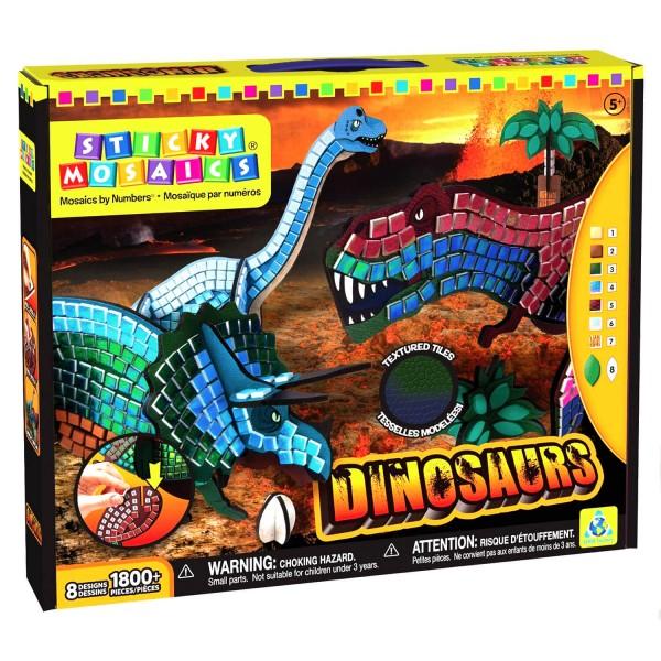 Mosaïque autocollante Dinosaures - Jeux et jouets Orb ...