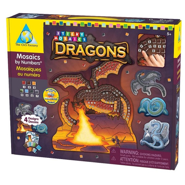 Mosaïque autocollante Dragons - Jeux et jouets Orb Factory ...