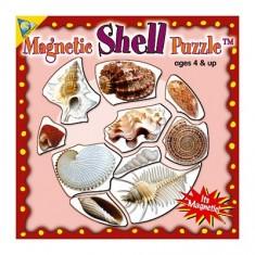 Puzzle 10 pièces : Mini Puzzle Magnétique Les Coquillages