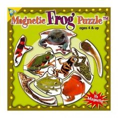 Puzzle 9 pièces : Mini Puzzle Magnétique Grenouilles