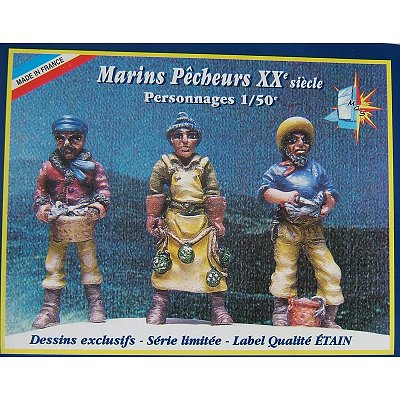 Figurines coffret de 3 figurines : Marins - Soclaine-BPF15