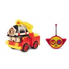 Camion de pompiers radiocommandé Robocar Poli 15 cm : Roy