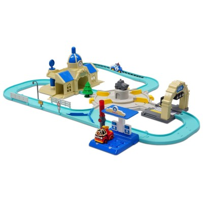 circuit de luxe robocar poli v hicule intelligent jeux et jouets ouaps avenue des jeux. Black Bedroom Furniture Sets. Home Design Ideas