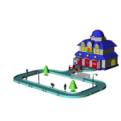 circuit robocar poli quartier g n ral poli ouaps magasin de jouets pour enfants. Black Bedroom Furniture Sets. Home Design Ideas
