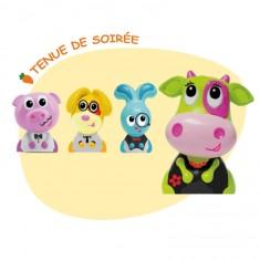 Figurines Jojo et ses amis : 4 figurines : Banquet