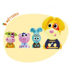 Figurines Jojo et ses amis : 4 figurines : Métiers