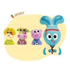 Figurines Jojo et ses amis : 4 figurines : Sport