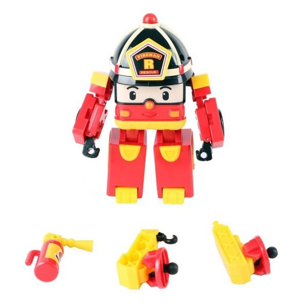 Poli v hicule transformable lumineux roy 13 cm de ouaps - Robocar poli pompier ...