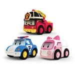 Véhicules à friction Robocar Poli : 3 véhicules Poli, Ambre et Roy