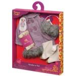 Vêtements de poupée : Tenue d'hiver : Veste en Tweed deluxe