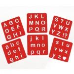Lot de 6 pochoirs : Alphabet