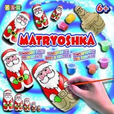 Matryoshka Poupées pères Noël à peindre