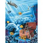 Peinture au numéro  Débutants : Trésor englouti