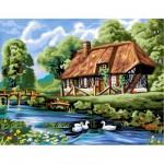 Peinture au numéro Initiés : Maison normande