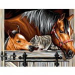 Peinture au numéro Initiés : Un trio en or