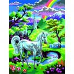 Peinture au numéro Débutants : Une licorne au pays des fées