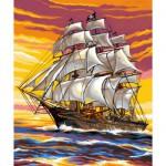 Peinture au numéro  Débutants : Le bateau pirate
