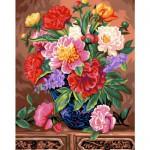 Peinture au numéro Maxi : Bouquet de pivoines