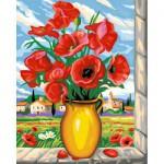 Peinture au numéro Maxi : Coquelicots