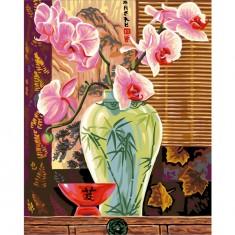 Peinture au numéro Maxi : Orchidées