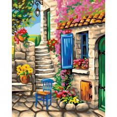 Peinture au numéro Maxi : Patio fleuri