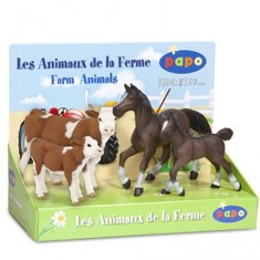 Figurine animaux de la ferme : Coffret 2 : 4 figurines