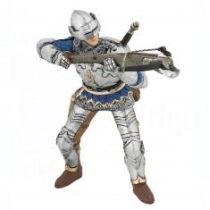 Figurine Arbalétrier bleu en armure