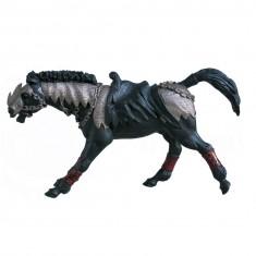 Figurine Cheval noir fantastique