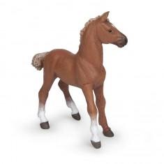Figurine Cheval pur-sang anglais alezan : Poulain